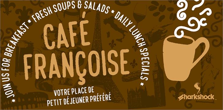 Café Françoise шрифт скачать бесплатно