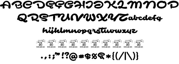 Safir Script шрифт скачать бесплатно
