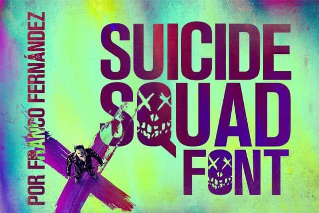 Suicide Squad шрифт скачать бесплатно