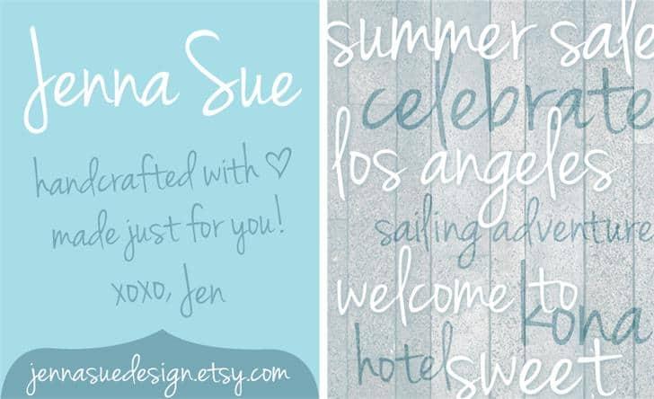 Jenna Sue шрифт скачать бесплатно