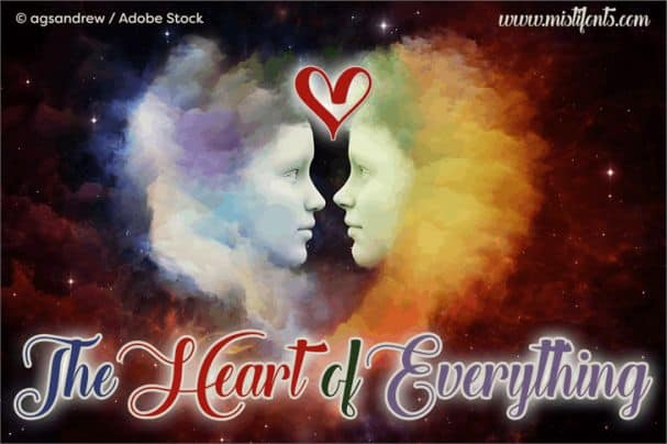 The Heart of Everything шрифт скачать бесплатно