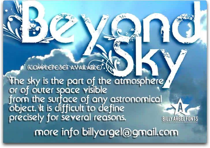 Beyond Sky шрифт скачать бесплатно