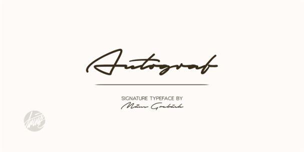 Autograf шрифт скачать бесплатно