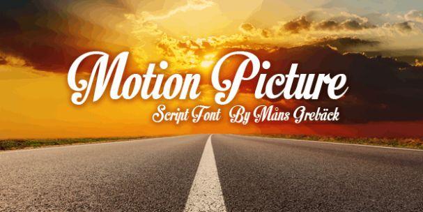 Motion Picture шрифт скачать бесплатно