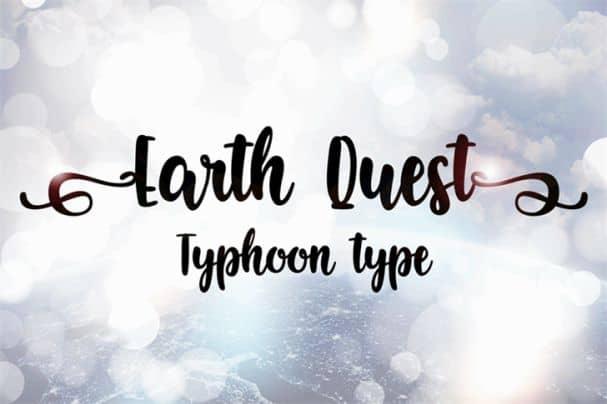 Earth Quest шрифт скачать бесплатно