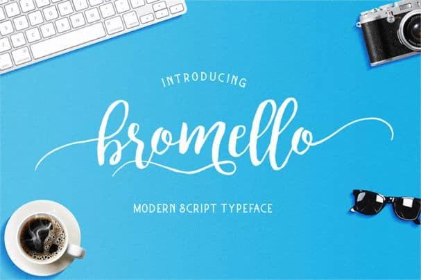 Bromello шрифт скачать бесплатно