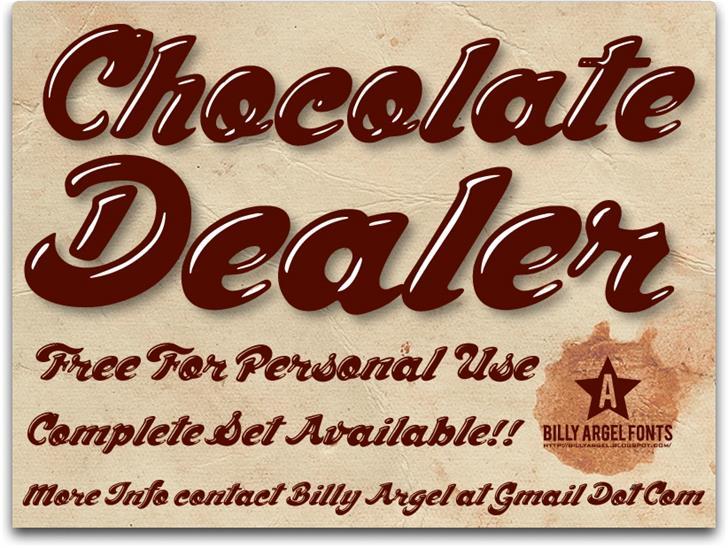 Chocolate Dealer шрифт скачать бесплатно
