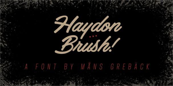 Haydon Brush шрифт скачать бесплатно