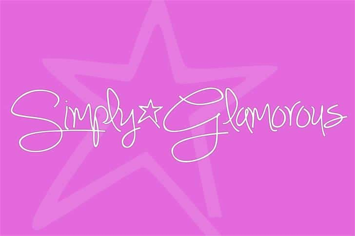 Simply*Glamorous шрифт скачать бесплатно