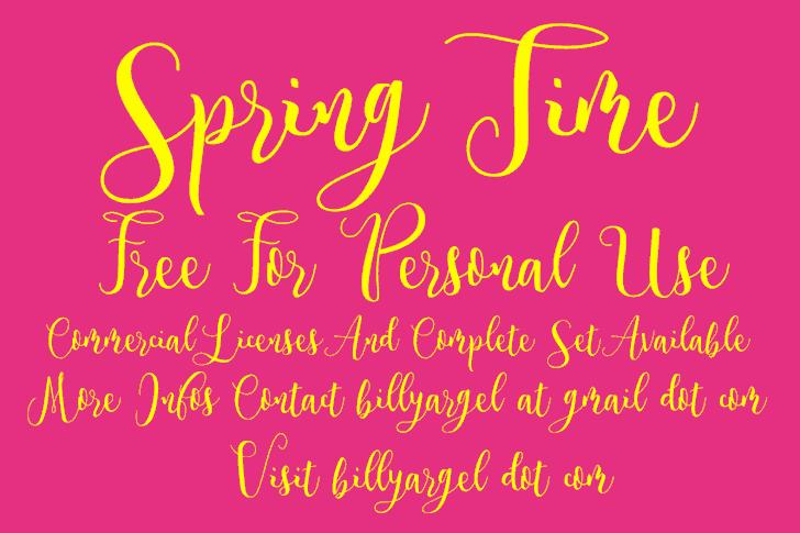 Spring Time шрифт скачать бесплатно