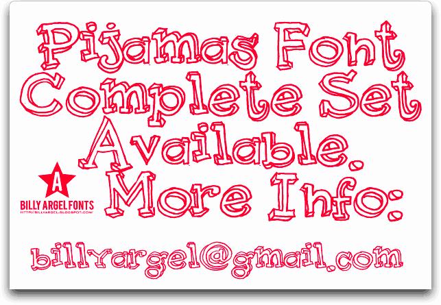 Pijamas шрифт скачать бесплатно