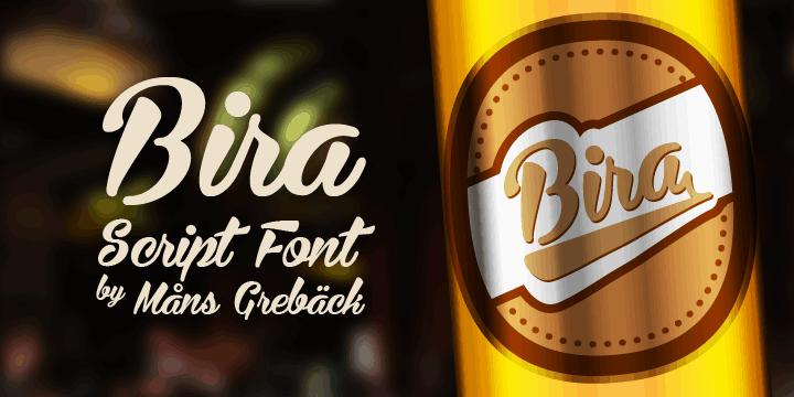 Bira шрифт скачать бесплатно