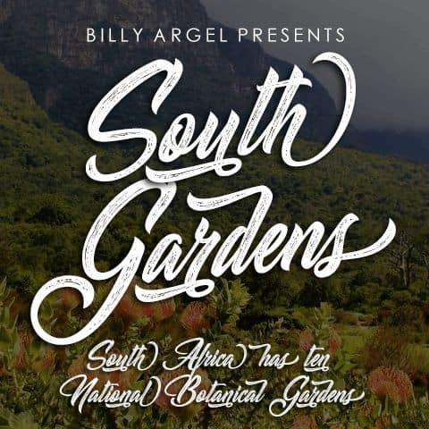 South Gardens шрифт скачать бесплатно