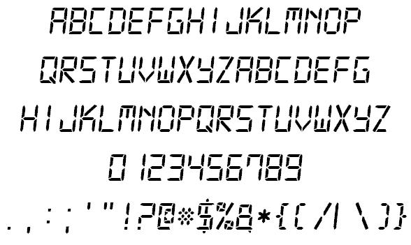 Digital-7 шрифт скачать бесплатно