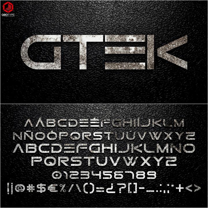 Gtek Technology шрифт скачать бесплатно