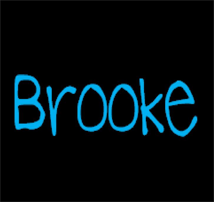 BrookeShappell8 шрифт скачать бесплатно