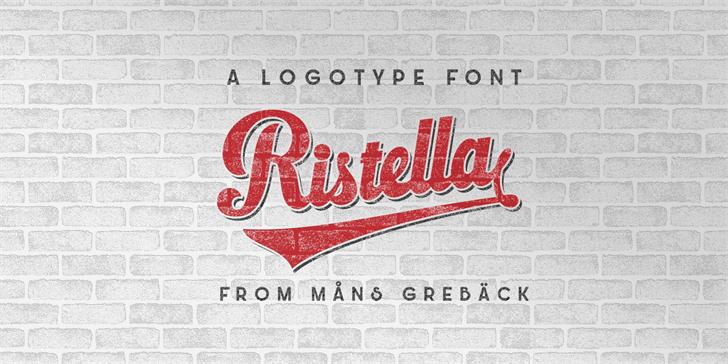 Ristella шрифт скачать бесплатно