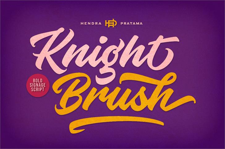 Knight Brush шрифт скачать бесплатно