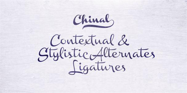 Chinal Light шрифт скачать бесплатно