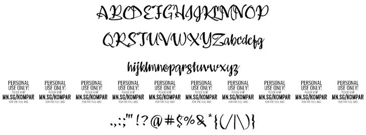 Kompar Medium шрифт скачать бесплатно
