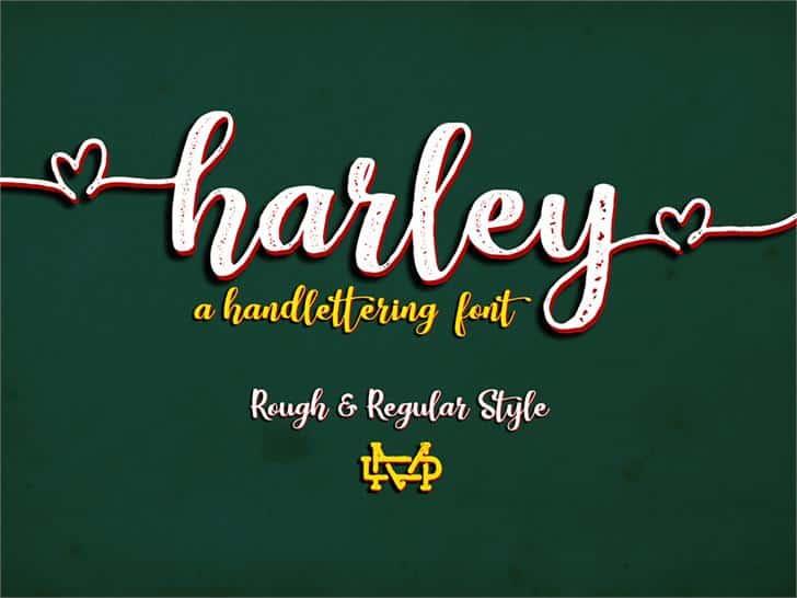 Harley Script шрифт скачать бесплатно
