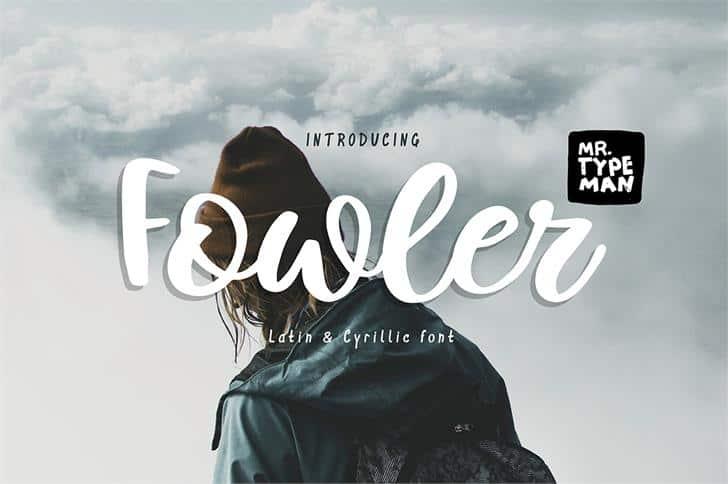 Fowler шрифт скачать бесплатно