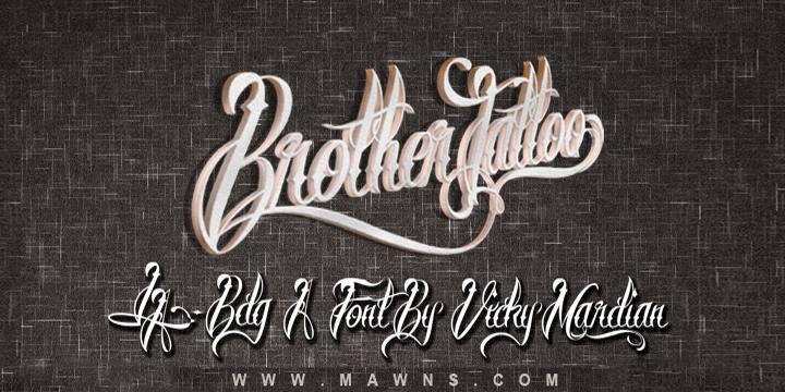 Brother Tattoo шрифт скачать бесплатно