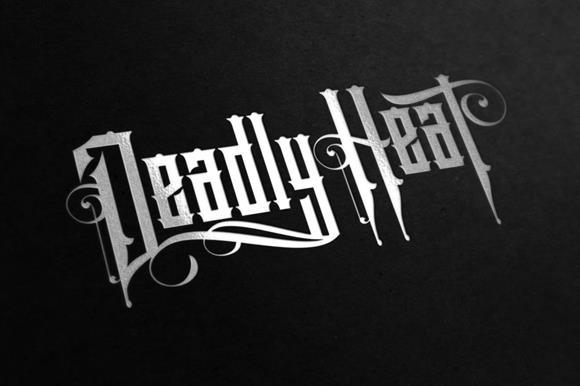 Deadly Heat шрифт скачать бесплатно