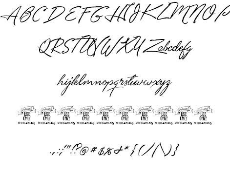 Unthrift Personal шрифт скачать бесплатно