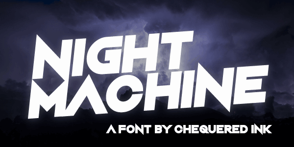 Night Machine шрифт скачать бесплатно