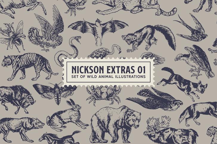 SS Nickson One шрифт скачать бесплатно