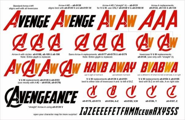 Avengeance шрифт скачать бесплатно