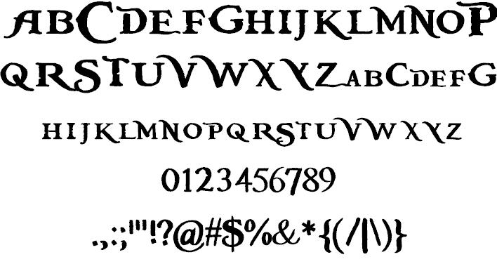 BlackPearl шрифт скачать бесплатно