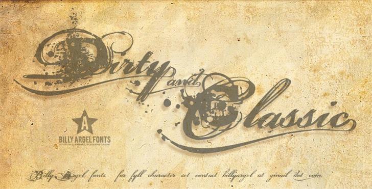 Dirty and Classic шрифт скачать бесплатно
