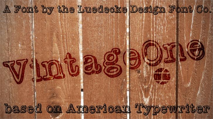 VintageOne шрифт скачать бесплатно