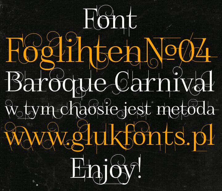 FoglihtenNo04 шрифт скачать бесплатно