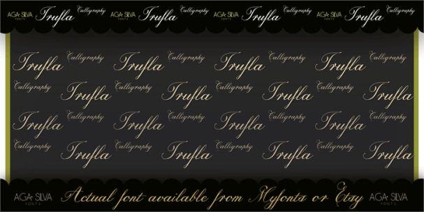 Trufla Words шрифт скачать бесплатно
