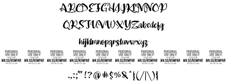 Kompar Bold шрифт скачать бесплатно