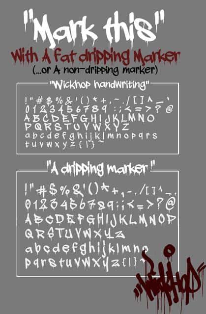 A dripping marker шрифт скачать бесплатно