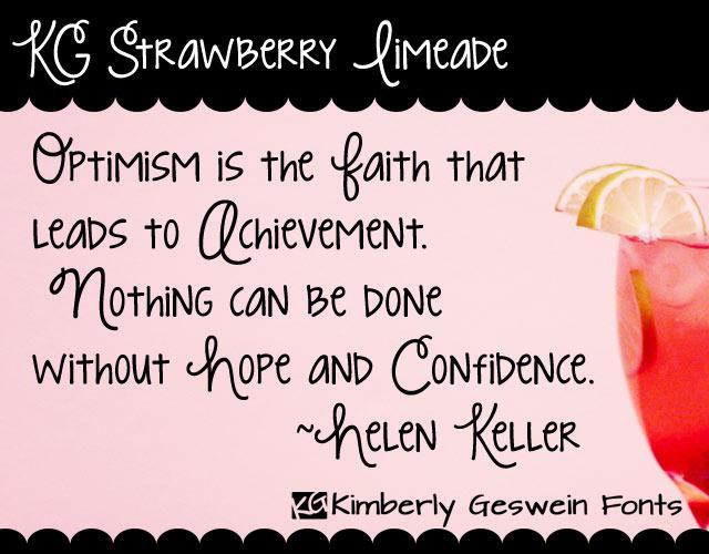 KG Strawberry Limeade шрифт скачать бесплатно