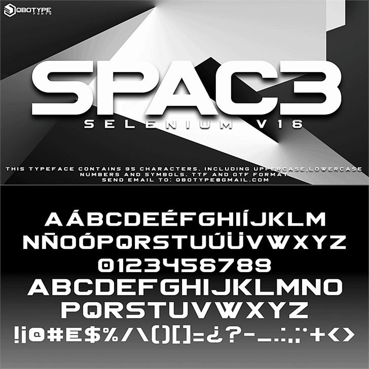 Spac3 tech шрифт скачать бесплатно