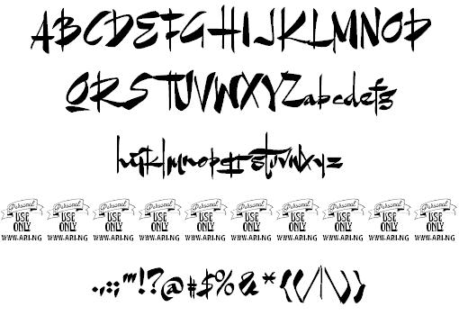 Goatskin Brush шрифт скачать бесплатно