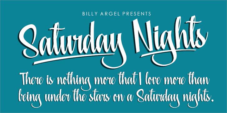 Saturday Nights шрифт скачать бесплатно