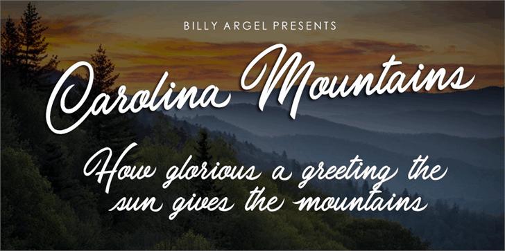 Carolina Mountains шрифт скачать бесплатно