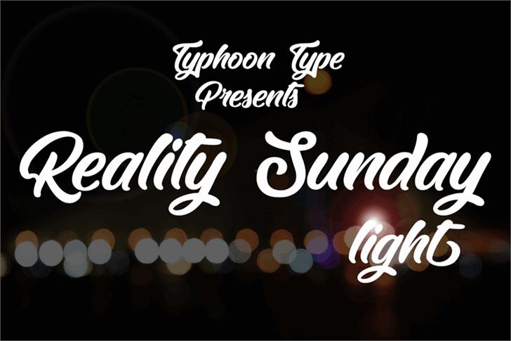 Reality Sunday light шрифт скачать бесплатно