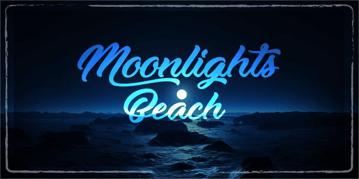 Moonlights on the Beach шрифт скачать бесплатно