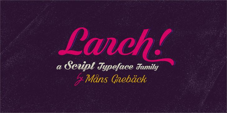 Black Larch шрифт скачать бесплатно