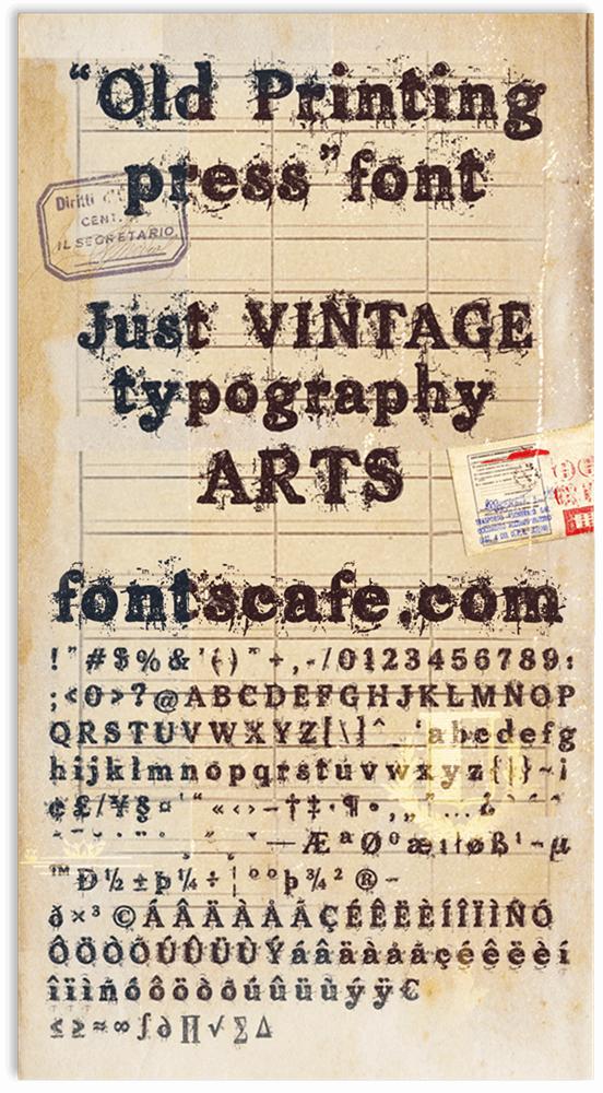 Old printing press шрифт скачать бесплатно