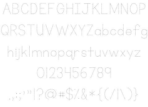 KG Primary Dots шрифт скачать бесплатно