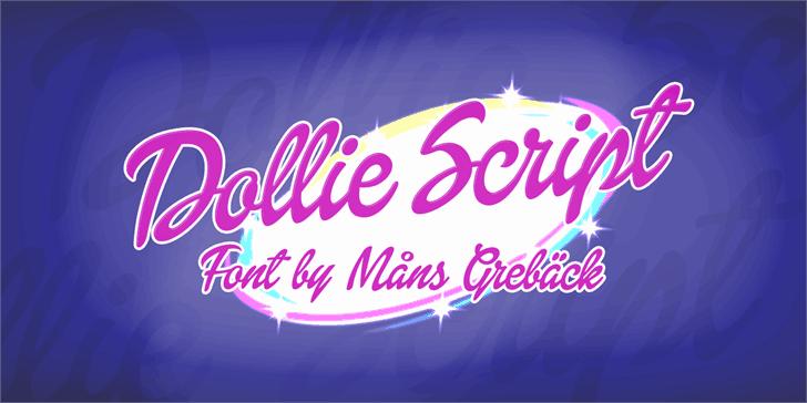 Dollie Script шрифт скачать бесплатно